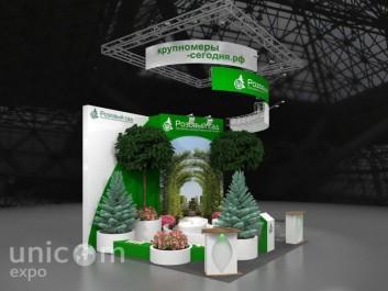 3D-макет для выставки Цветы