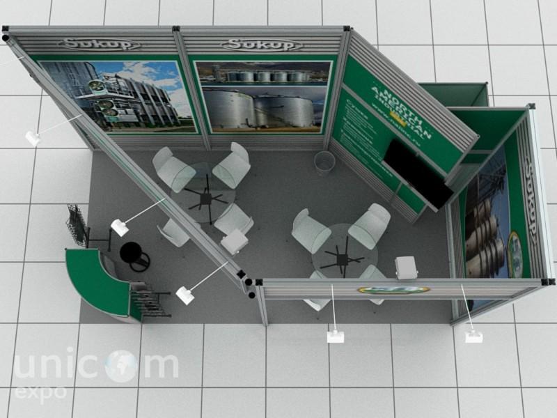 Выставочный стенд № 10017: Агроферма, Баннерные стенды, Бюджетный, до 20 кв. м, Классический, Конструктивизм, Промышленность, Сельское хозяйство, Стенды из выставочного конструктора, Угловой, Улучшенный стандартный