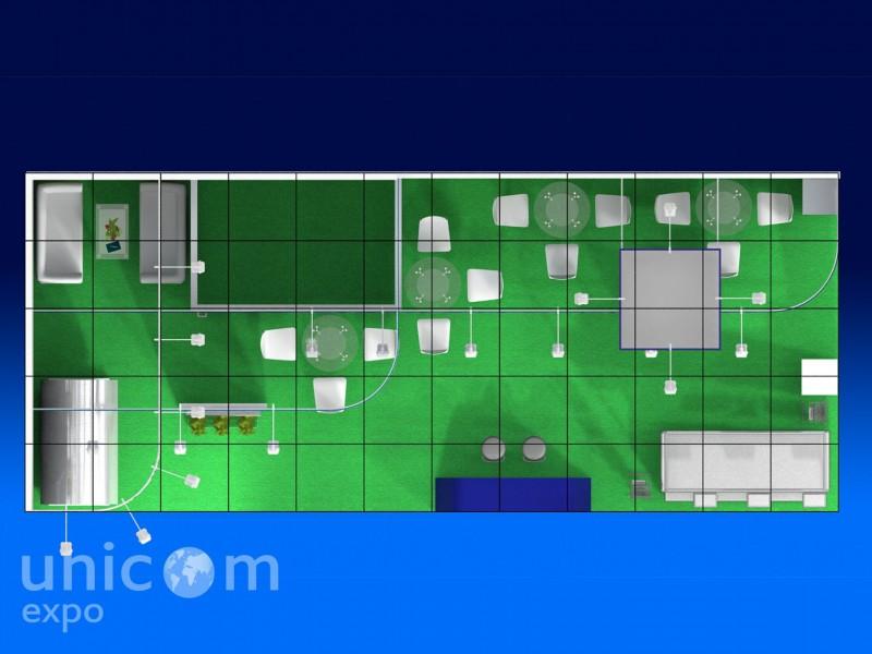 Выставочный стенд № 10045: Агроферма, Баннерные стенды, от 50-100 кв. м, Пищевая промышленность, Сельское хозяйство, Стенды из выставочного конструктора, Угловой, Улучшенный стандартный