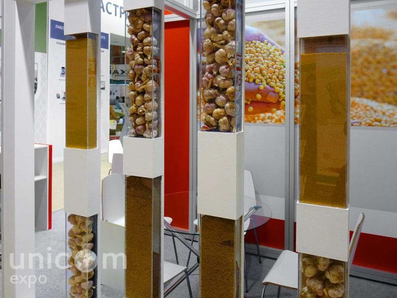Выставочный стенд № 10050: Баннерные стенды, Золотая осень, от 20 до 50 кв. м, Продукты питания, Сельское хозяйство, Угловой, Улучшенный стандартный