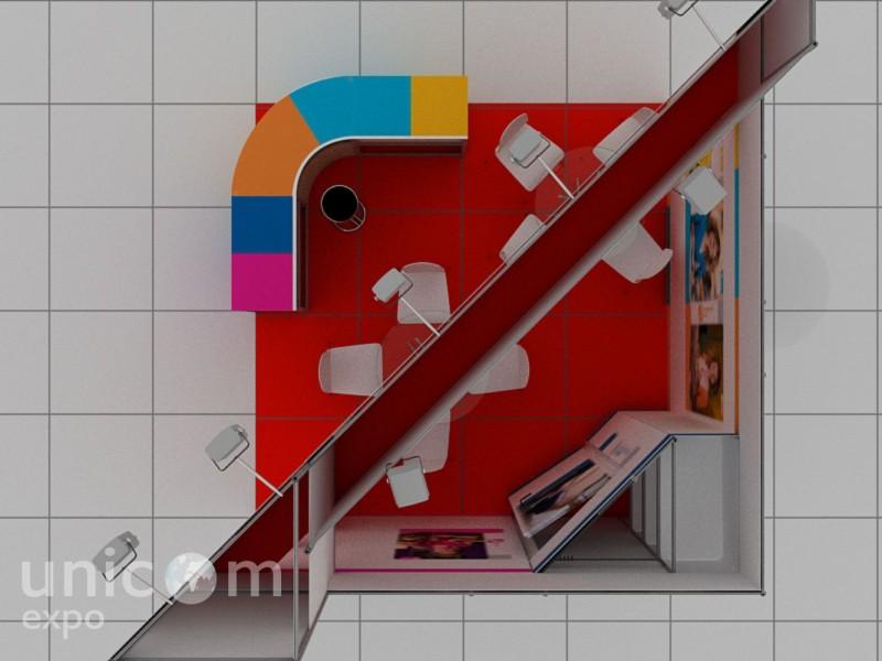 Выставочный стенд № 10054: Баннерные стенды, Бюджетный, до 20 кв. м, Золотая осень, Продукты питания, Сельское хозяйство, Угловой, Улучшенный стандартный