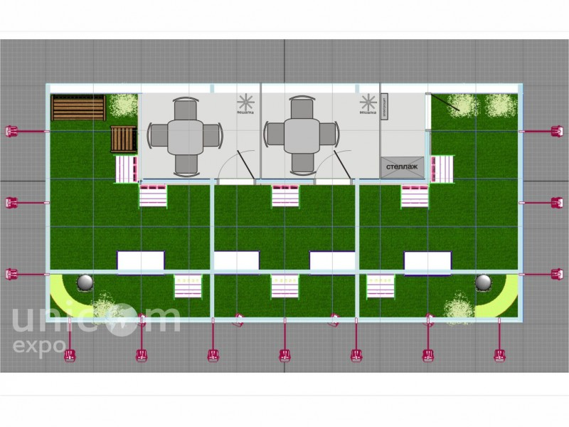 Проект выставочного стенда № 20021: Баннерные стенды, Классический, от 50-100 кв. м, Полуостровной, Сельское хозяйство, Стенды из выставочного конструктора, Цветы, Эксклюзивный