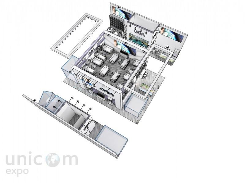 Проект выставочного стенда № 20025: Агроферма, более 100 кв. м, Двухэтажный, Деревянные стенды, Европейский стиль, Интерактивный, Островной, Промышленность, Сельское хозяйство, Современный, Стенды с подвесом, Эксклюзивный