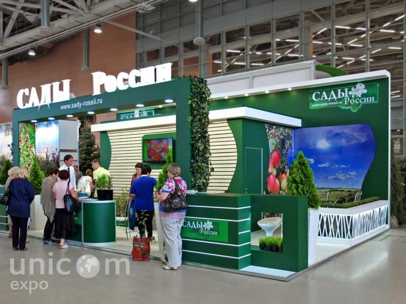 Выставочный стенд № 20042: Деревянные стенды, Классический, от 50-100 кв. м, Полуостровной, Сельское хозяйство, Цветы, Эко-стиль, Эксклюзивный