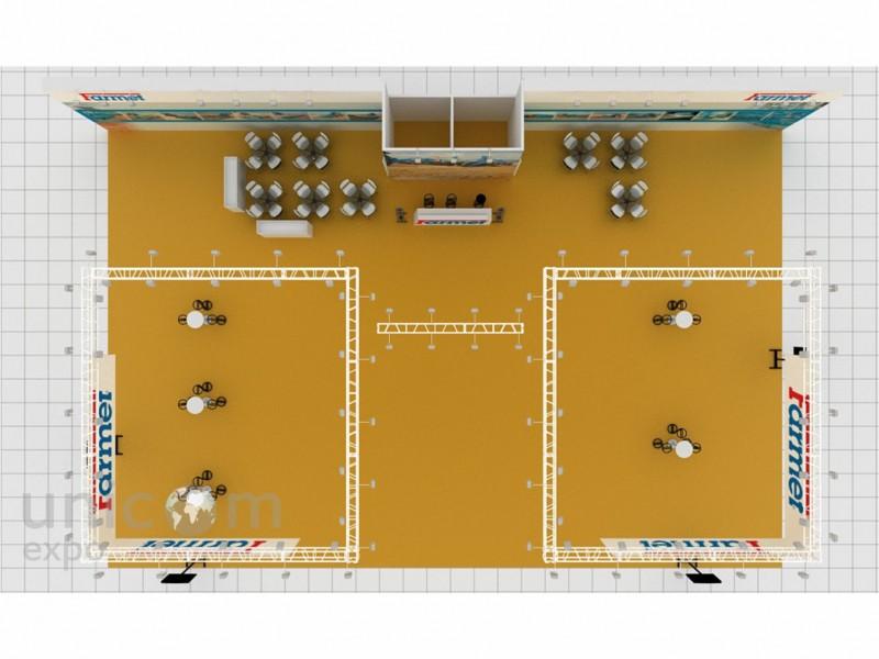 Выставочный стенд № 20043: Агросалон, Баннерные стенды, более 100 кв. м, Классический, Полуостровной, Промышленность, Сельское хозяйство, Стенды с подвесом, Транспорт и техника, Эксклюзивный