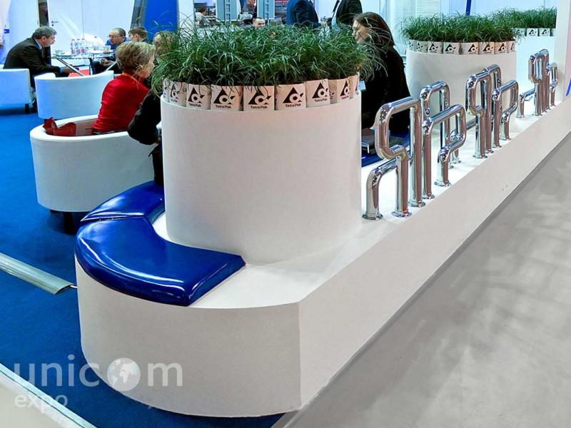 Выставочный стенд № 20050: более 100 кв. м, Деревянные стенды, Классический, Молочная и мясная индустрия, Пищевая промышленность, Полуостровной, Стенды с подвесом, Эксклюзивный
