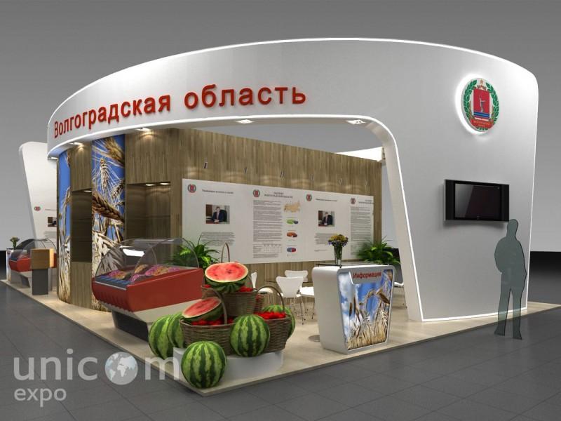 Выставочный стенд № 20058: более 100 кв. м, Деревянные стенды, Золотая осень, Классический, Островной, Пищевая промышленность, Сельское хозяйство, Эксклюзивный