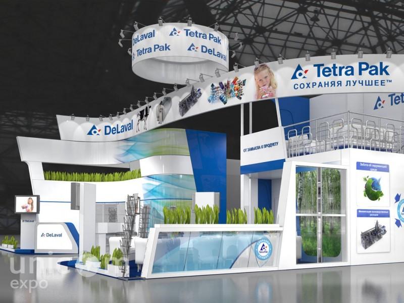 Выставочный стенд № 20060: более 100 кв. м, Двухэтажный, Деревянные стенды, Европейский стиль, Классический, Молочная и мясная индустрия, Пищевая промышленность, Полуостровной, Стенды с подвесом, Эксклюзивный