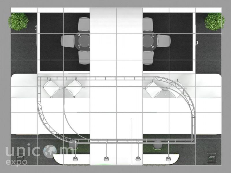 Выставочный стенд № 20075: Деревянные стенды, Зерно Комбикорма Ветеринария, Классический, от 20 до 50 кв. м, Полуостровной, Сельское хозяйство, Стенды с подвесом, Химия, Эксклюзивный