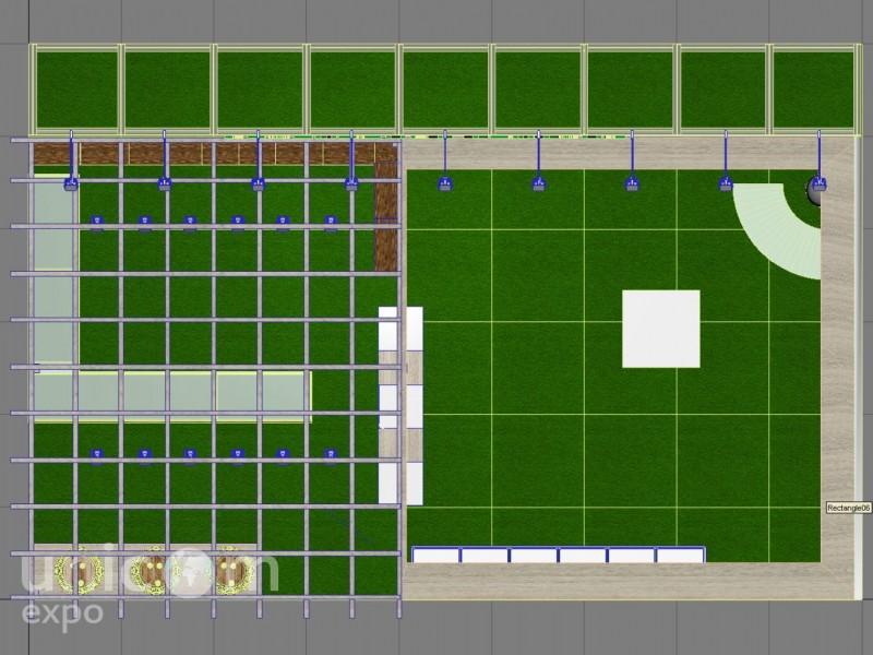 Выставочный стенд № 20081: Деревянные стенды, Золотая осень, от 50-100 кв. м, Пищевая промышленность, Продукты питания, Сельское хозяйство, Угловой, Эксклюзивный