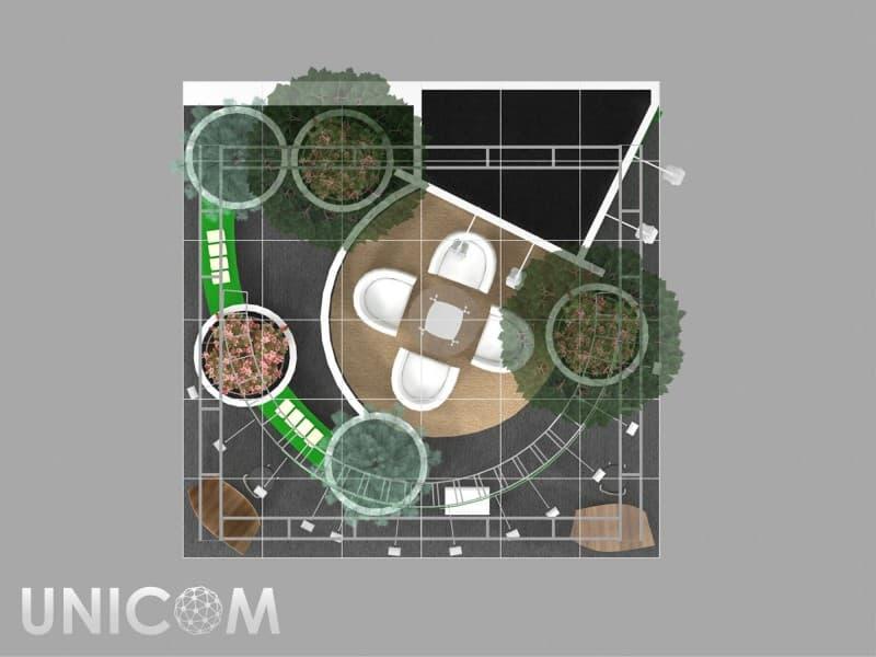 Выставочный стенд № 20028: Баннерные стенды, Деревянные стенды, от 20 до 50 кв. м, Полуостровной, Сельское хозяйство, Стенды с подвесом, Стильный, Цветы, Эксклюзивный