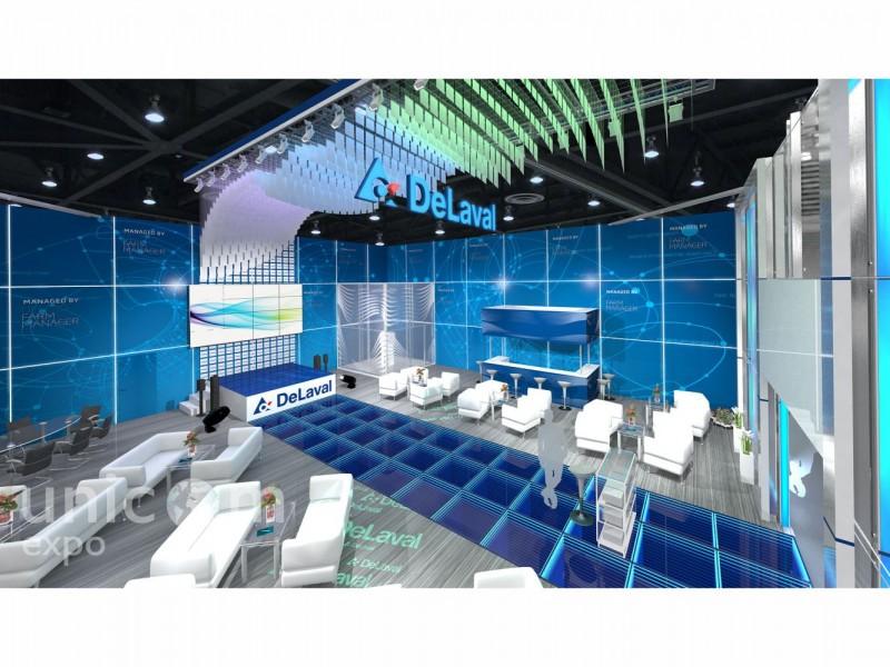 Выставочный стенд № 20070: Агроферма, более 100 кв. м, Европейский стиль, Интерактивный, Необычный, Промышленность, Сельское хозяйство, Современный, Стенды из стекла, Стильный, Угловой, Хай-тек, Эксклюзивный