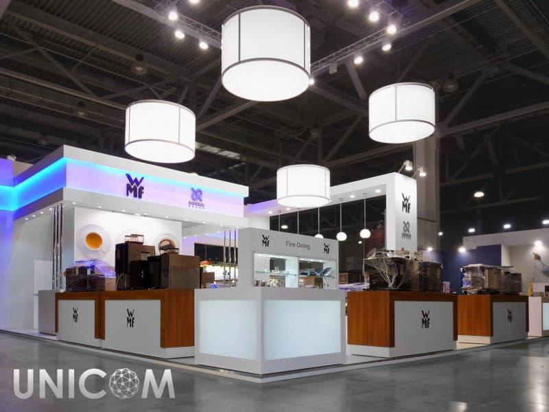 Выставочный стенд № 20076: более 100 кв. м, Деревянные стенды, Европейский стиль, ПИР, Пищевая промышленность, Полуостровной, Продукты питания, Современный, Стенды с подвесом, Стильный, Эксклюзивный
