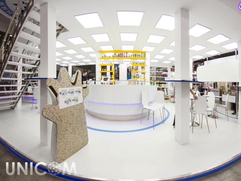 Выставочный стенд № 20092: более 100 кв. м, Двухэтажный, Деревянные стенды, Европейский стиль, Интерактивный, Модерн, Молочная и мясная индустрия, Островной, Пищевая промышленность, Продукты питания, Промышленность, Современный, Стенды с подвесом, Стильный, Упаковка, Хай-тек, Эксклюзивный