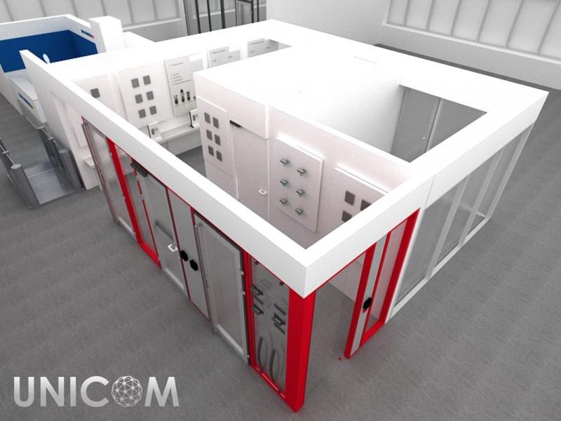 Выставочный стенд № 20094: более 100 кв. м, Деревянные стенды, Оформление помещений, Стенды из ЛДСП
